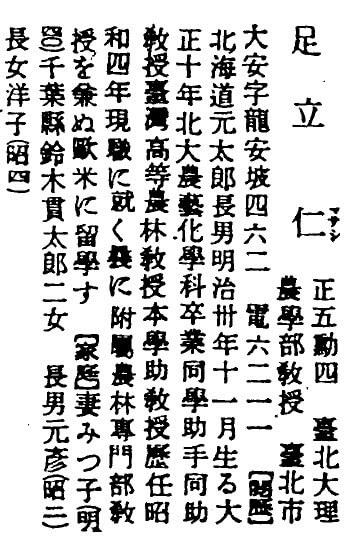 足立仁-台灣人物誌