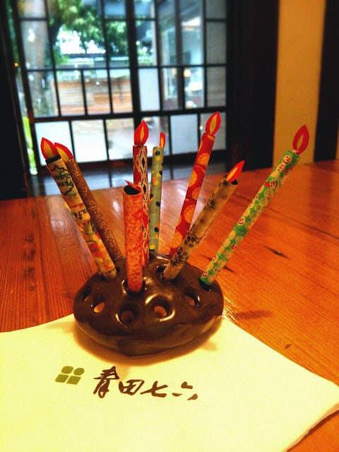 青田七六-紙蠟燭