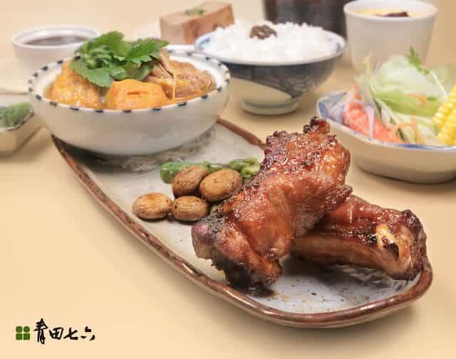 青田七六-午間上膳-南瓜醬盅子排燒